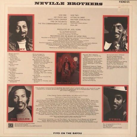 Neville Brothers  /   Fiyo On The Bayou  (LP)