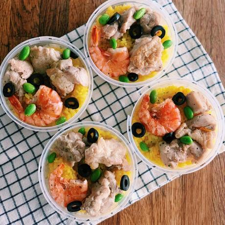エビと鶏肉のパエリア 4食セット(クール便でお届け)