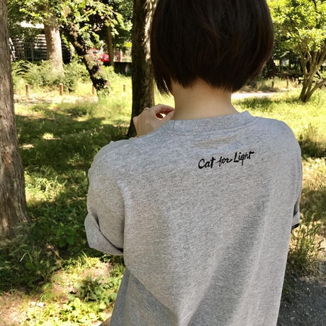 【Cat Busters】Tshirts_Gray