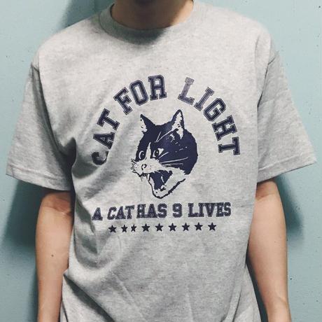 【College_9 lives】Tshirt _Gray
