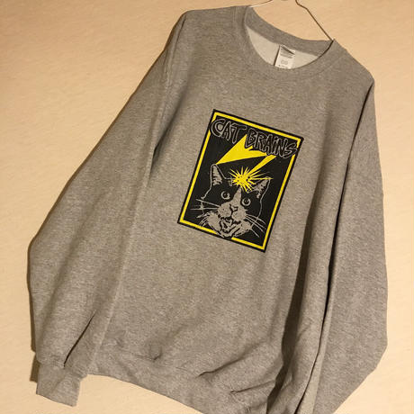 【CATBRAINS】Sweatshirts_Gray