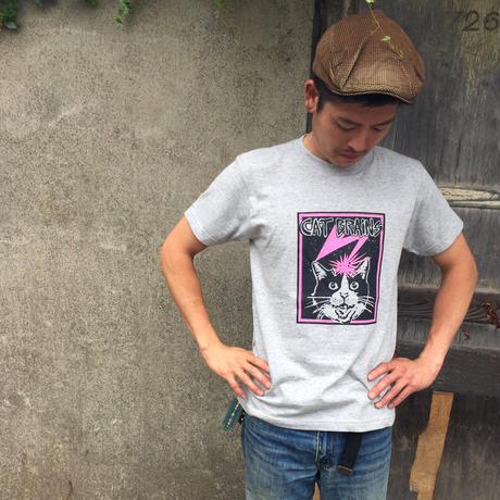 【CATBRAINS】Tshirts_Gray