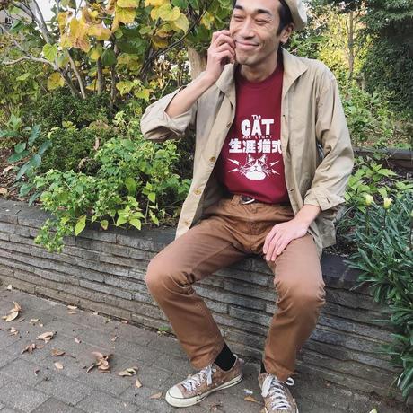 【生涯猫式】Tshirts_Burgundy