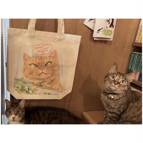 【生産終了】町田尚子「ねこはるすばん」トートバッグ