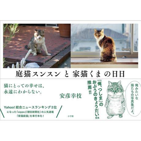 【直筆サイン入り未使用プリント付き】庭猫スンスンと家猫くまの日日