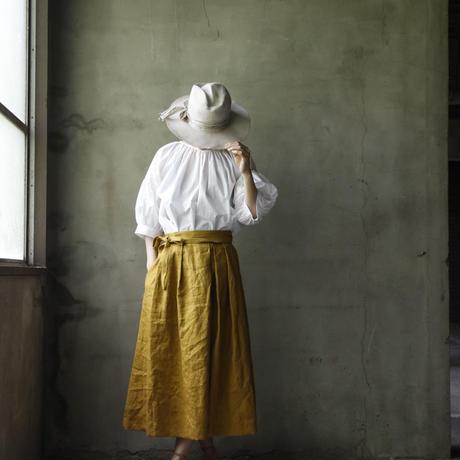 cavane キャヴァネ / French linen-skirtリネンスカート /  ca-18044
