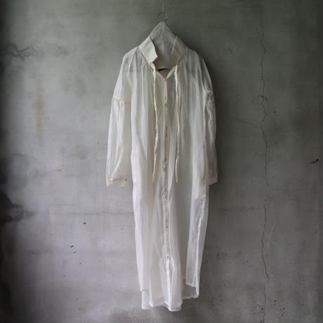 Tabrik タブリク / Organdie gather robeワンピース/ ta-21019