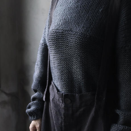 BIEK VERSTAPPEN / Hand-knit fisherman's sweater   / Bie-21014