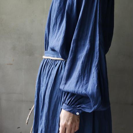 cavane キャヴァネ /  【受注】  French linen Smock blouseスモックブラウス / ca-18051B