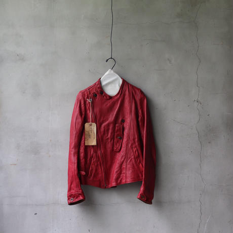 Aski Kataski アスキカタスキ /  Aviator style leather jacket / ak-20000