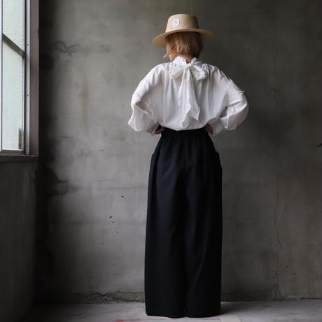 cavane キャヴァネ / Waist frill wide pantsワイドパンツ / ca-21046