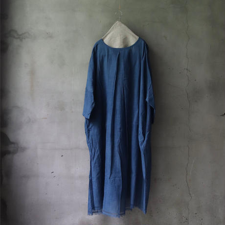 Tabrik タブリク / Khadi dress本藍染ワンピース/ ta-21013