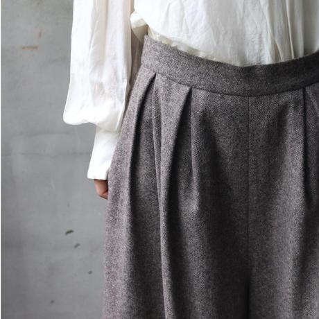 cavane キャヴァネ / tweed fabric  wide pantsパンツ /  ca-20109