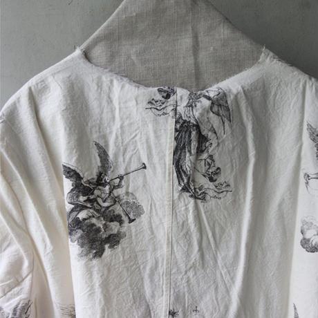 ALEKSANDR MANAMISアレクサンドルマナミス/ COLLARLESS ANGELICA SHIRTシャツ/ am-21011