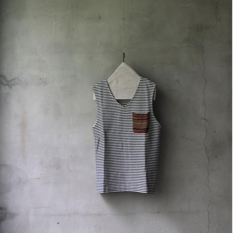 cavane キャヴァネ / home decor & living wear with stay home border vest/ ca-21601