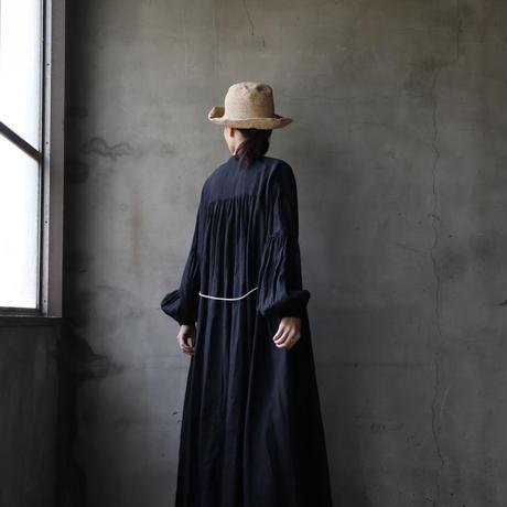 cavane キャヴァネ /  【受注】Balloon sleeve linen dressバルーンスリーブドレス / ca-19001