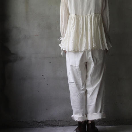 cavane キャヴァネ / Open-buttoned gather Blouseブラウス / ca-21062