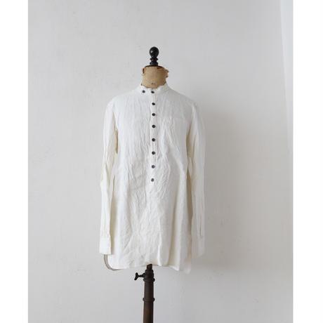 KLASICA クラシカ /cut off stand collar shirts unisex スタンドカラーシャツ/ kl-17005