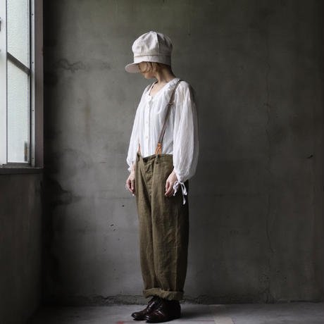 cavane キャヴァネ / over pants with suspendersオーバーパンツ /  ca-21052