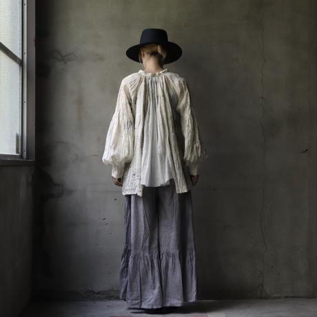 Tabrik タブリク / logwood  back pleats blouseブラウス/ ta-21010