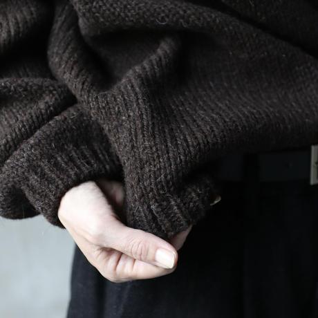 Bergfabel バーグファベル / Handmade pullround collar stripeプルオーバーニット/ BFmW141/706B