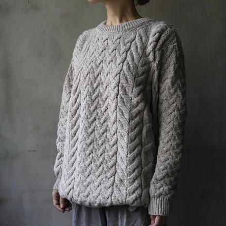 aran woollen millsアラン ウーレンミルズ / Cable & Weave Aran Crew Sweaterニット/ ar-B689G