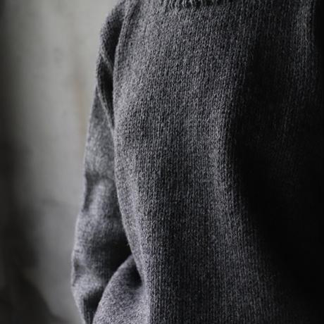 Bergfabel バーグファベル / Handmade pullround collar stripeプルオーバーニット/ BFmW141/706