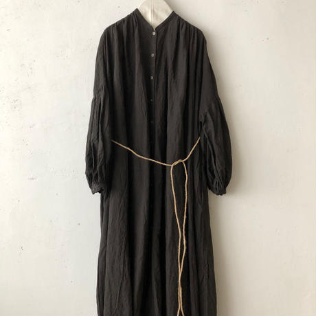 cavane キャヴァネ /  Balloon sleeve linen dressバルーンスリーブドレス / ca-19080