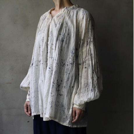 Tabrik タブリク / cobalt back pleats blouseブラウス/ ta-21011