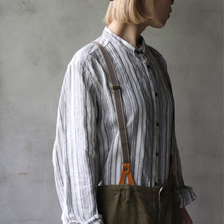 cavane キャヴァネ / Stand coll-shirtシャツ / ca-21065