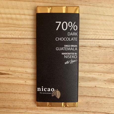 ニカオ 70% ダークチョコレート /nicao Dark Chocolate