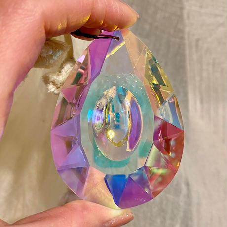 【新商品】サンキャッチャー用・ガラスクリスタル「雫型」