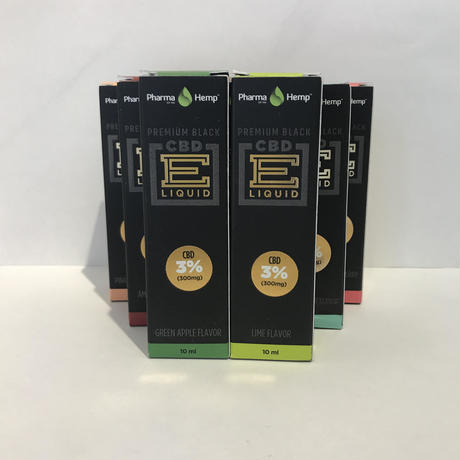 3%プレミアムブラック ベイプリキッド(各種フレーバー) E-liquid Vape Premium Black CBD300mg配合/10ml