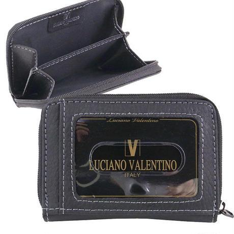 ルチアーノバレンチノ牛革シボ 小銭入付定期入れパスケースLUV3008