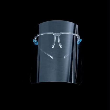 超軽量 髪型が崩れないゴーグル型フェイスシールド 男女兼用 ゴーグル 飛沫対策 メガネ着用可 接客業務 カウンター業務  眼鏡併用可 定形外郵便発送で送料無料  face_shield