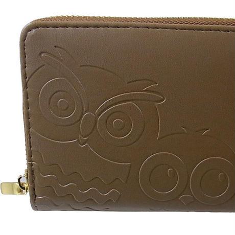 福◇ふくろう財布で金運アップ!風水財布 不苦労 511ブラウン茶