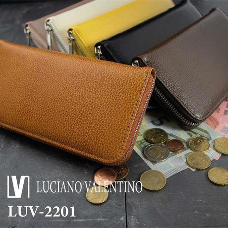 【Luciano Valentino】ルチアーノバレンチノ 牛革 パテントノボ  ラウンドファスナー 長財布 送料無料 LUV2201