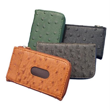 カードスライダーが付いた便利な編み込みレザー調コインケースL字ラウンドファスナーコインケース 手のひらサイズの極小財布 PUレザーコインケースwacs005
