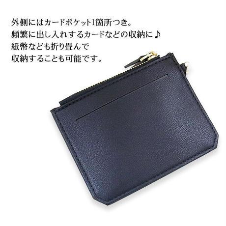 オールインワンコンパクトウォレット レディース コインケース パスケース ファスナー小銭入れ PUレザー カードケース コンパクト財布 定形外郵便 送料無料wacp01