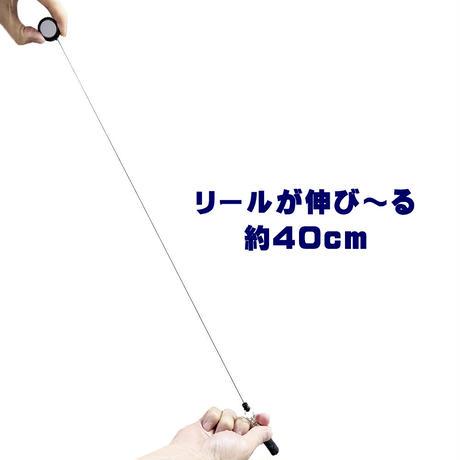 静電気対策 除電タッチ棒 伸びるリール式 コロナ放電で嫌な静電気を除去 ドアノブ 車・カードア ノータッチ 雑貨(日用品) タッチパネル操作可能 キーホルダー jnrjb55