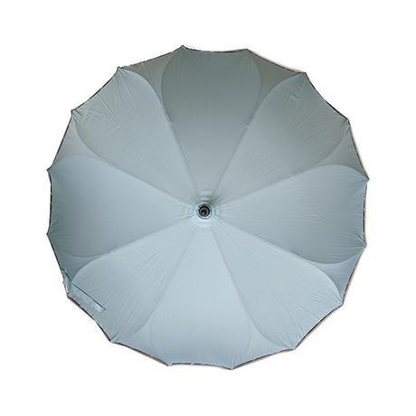 16本骨 耐風骨 サクラ骨 シームレス(一枚張り)傘 パイピング60センチ ワンタッチ式 グラスファイバー女性用 雨傘通勤通学 撥水性 即納 送料無料縁ストライプum1806