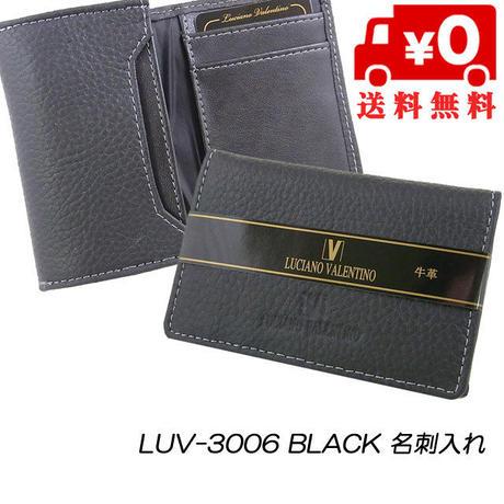 ルチアーノバレンチノ 牛革シボ 名刺入れ カードケース LUV3006
