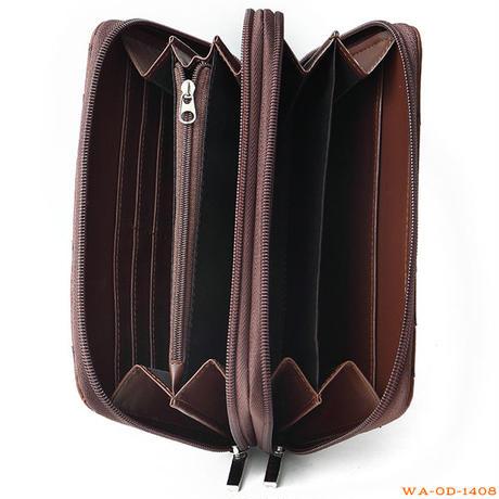 お財布ショルダー◇お財布ポシェット ウォレットショルダーオーストリッチ型押しWAOD1408