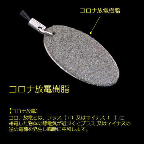 触って除電 静電気除電プレート キーホルダー&ストラップ2個セット sjp2p