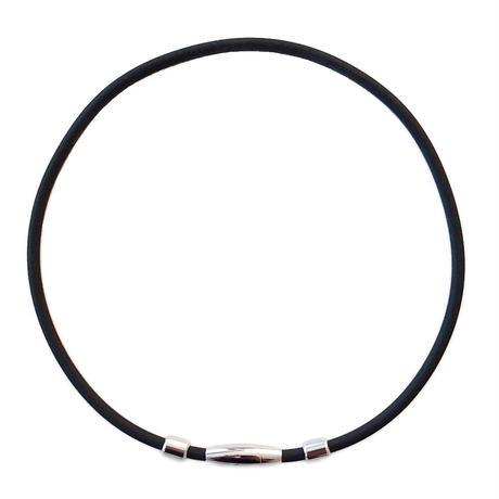 スポーツネックレス ゲルマニウムネックレス シリコン ゲルマニウム 磁気 磁石 マグネット  野球 サッカー バスケット ゴルフ マラソン ブラック 黒le777
