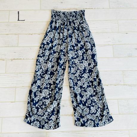 Shirrng  wide pants K/L