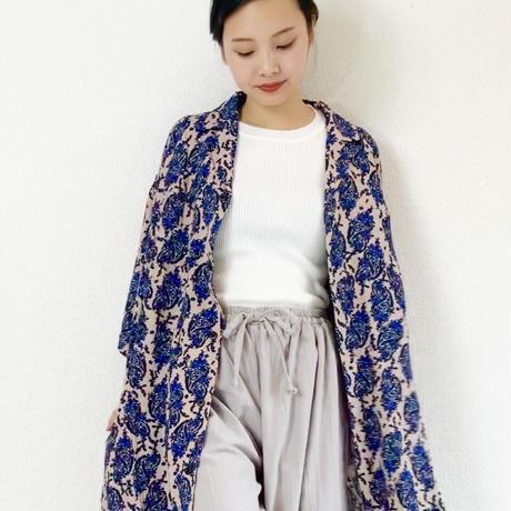 Soft long  jacket  / paisley