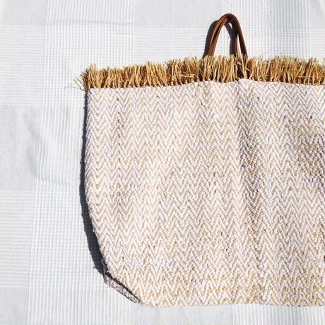 Rafia  African  Cotton Bag