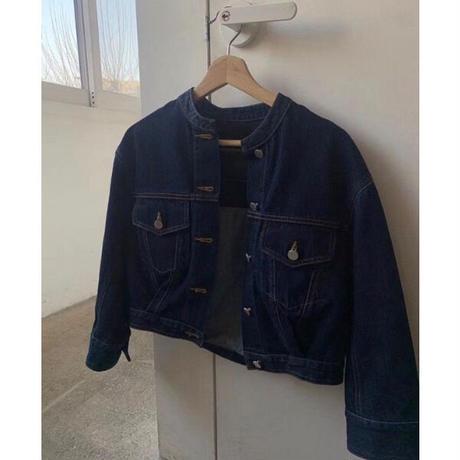 denim short jacket