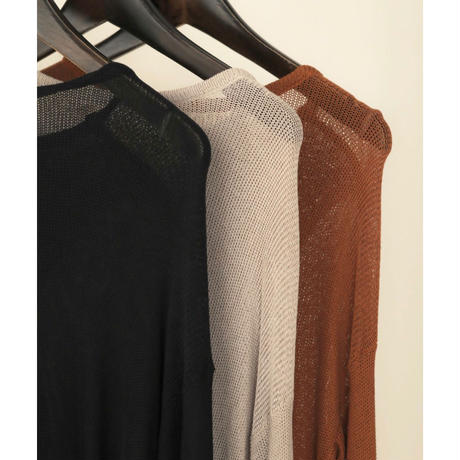 back cache-coeur sheer knit